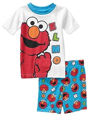 Sesame Street Elmo Baby Boys 2 Piece Shirt & Shorts Pajama Set