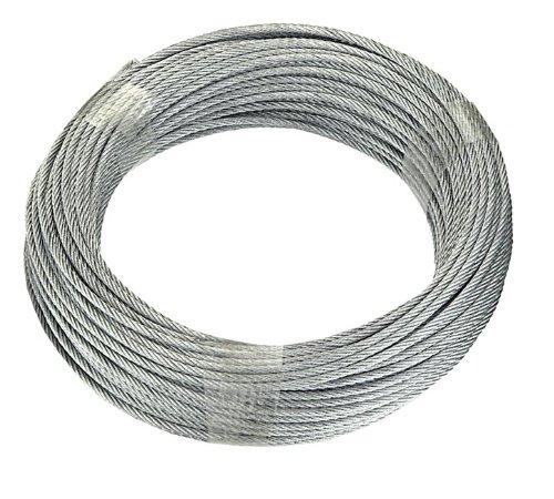 Connex DY2701385 Drahtseil mit Textilfaserseele, 20 m x 4 mm, verzinkt
