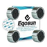 Eqosun® - Toallero práctico en cromo con superficie adhesiva 3M original...