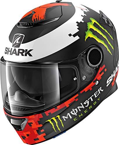 Shark Motorradhelm SPARTAN 1.2 LORENZO MAT MONST KRG, Schwarz/Weiss/Rot, M