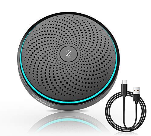 Yuanj Konferenzmikrofon PC USB Mikrofon, 2021 Aktualisierte Version 360º Mikrofon für Konferenz, Plug & Play Mikrofone für Aufnahme, Zoom, Diktataufnahme, Chats, Streaming, Sprachnachrichtenaufnahme