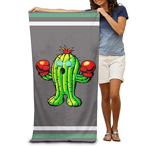 Donola Kaktus mit Boxhandschuhe Sonnenbrille Bad Handtücher Strand Handtücher Waschlappen Erwachsene Weich saugfähig 78,7x 129,5cm