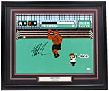 Mike Tyson Autographed Signed in Black Framed 16x20 Punch Out Boxing Photo JSA ITP