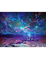 Mainstayae Diamond Painting DIY 5D Oil Painting Sea Diamond Painting Cube Round Shape Diamond Paintings Kits Arts Craft for Room Wall Decoration