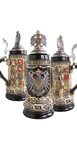 Zöller & Born Bierkrug Deutschland mit Bundesländerwappen Seidel 0,5 Liter Bierseidel ZO 1425/9009
