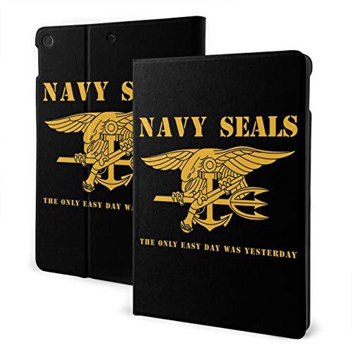 Navy Seals Stencil iPad 7th Generation Case iPad 10.2'' Cute Shell Smart Cover Auto Wake/Sleep