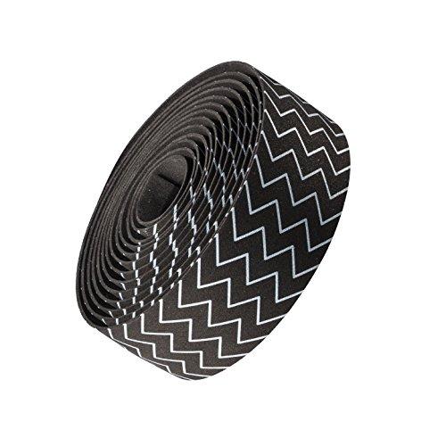 Bontrager Cork Gel Fahrrad Lenkerband zagzig schwarz