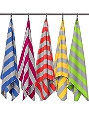 Strandhanddoek XXL - strandlaken, badlaken groot en licht, microvezel badlaken