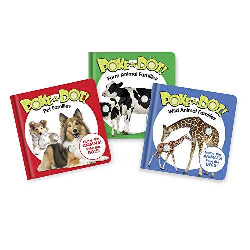 Melissa & Doug Children's Books 3-Pack - Poke-a-Dot Animal Families