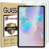 Svanee Panzerglas Schutzfolie für Samsung Galaxy Tab S5e / S6 10,5-Zoll, [2 Stück] [9H Festigkeit][Blasenfrei] Gehärtetes Glas Panzerglasfolie für S5e (T720 / T725) / S6 (T860 / T865)