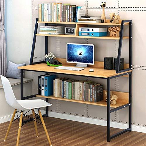 Mesas Para Ordenador Con Estantería Y Cajones,múltiples Funciones Escritorio De Computadora,inicio Oficina Pc Portátil Escritura Mesa De Estudio Estación De Trabajo-a 80x48x136cm(31x19x54inch)