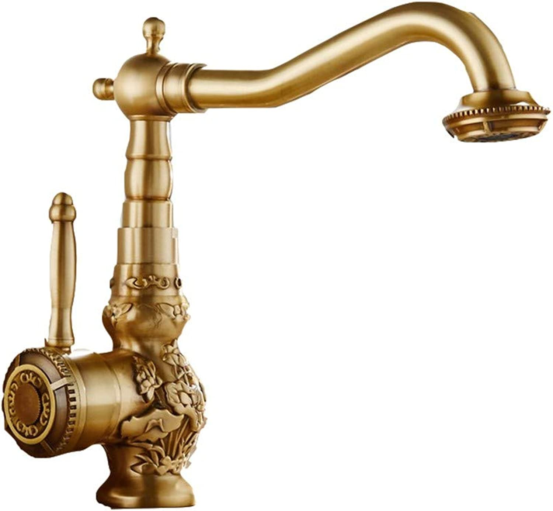 CTREKE Becken Wasserhahn Küchenspüle Mischer Bad Wasserhahn hei und kalt Europischen Einhebelmischer kann gedreht Werden D