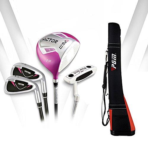 PGM Golfschläger-Set, halbes Set, 4 Schläger mit Schlägertasche, Rechtshänder, Graphitschaft, Stil 6 für Damen