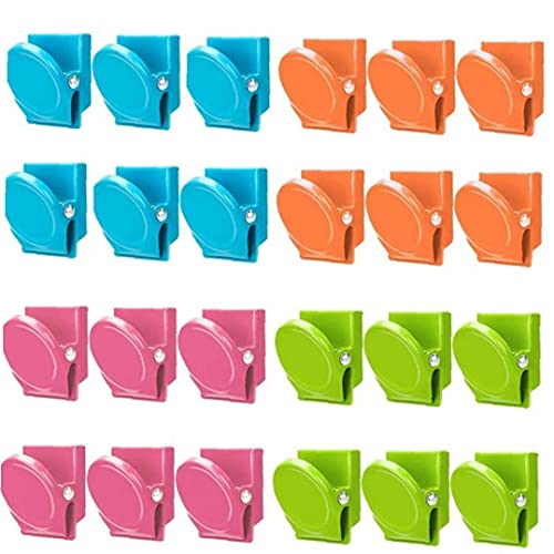 24 Pcs Magnetic Clips Magnetic Metal Clips Refrigerator Whiteboard Wall Fridge Magnetic Memo Note Clips Magnets