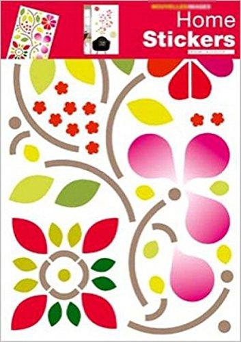 1art1 Fleurs Sticker Adhésif Mural Autocollant - Style Manga (70 x 50 cm)