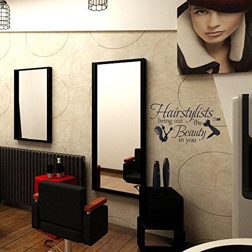 Broadroot removible Peluquería Tienda Pegatinas de pared tienda puerta ventana pared decoración negro