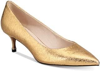 Kenneth Cole New York Morgan Kitten-Heel Pumps Yellow Size 7.5M