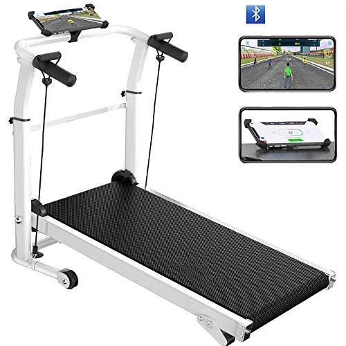 Mechanische loopband opvouwbare thuis kleine stille afslankende loopband sport fitnessapparatuur, smartphone Bluetooth APP-verbinding