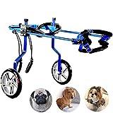 WU Silla de Ruedas Ajustable para Perros,Soporte Auxiliar para rehabilitación de Patas traseras, Ajustable, Fácil de Montar, para Perros Gato paralítico,S(03)