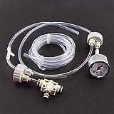 Alupre 1set Blanca Bricolaje Acuario plantado Sistema de CO2 Tanque Pro Tubo de la válvula del calibrador a la cápsula del Kit