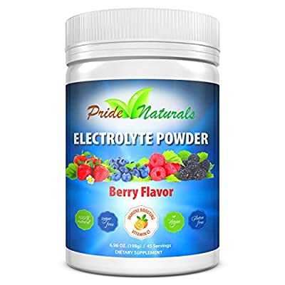 Electrolyte Powder - Refreshing Workout Recovery Electrolytes, All Natural, Sugar Free, Gluten Free & Vegan, Pure Keto & Paleo Hydration Beverage, Immune Boosting Vitamins