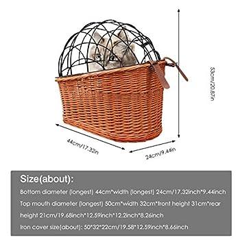 Panier de vélo pour chien Schildeng Willow - Panier arrière pour vélo - Pour chats et chiens jusqu'à 25 kg