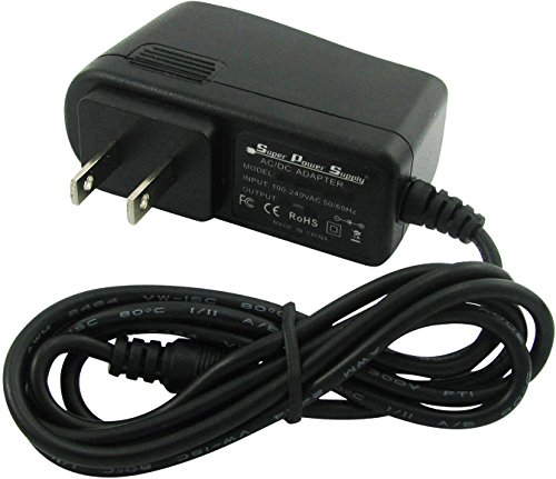 Super Power Supply AC / DC Adapter Charger Cord for Coby Kyros 7' Mid7012-4g Mid7015 Mid7016-4g Mid7022-4g Mid7125-4g Mid7005 Mid7127 MID 7005 7127 Md 7015 Android Internet Touchscreen Tablet 4gb Ereader Pad Tablet Wall Barrel Plug