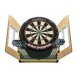 Target Darts World Champions Dartboard with 2 Sets of Darts in a Home Cabinet Set Diana y Armario, Sisal, marrón Claro, Estándar
