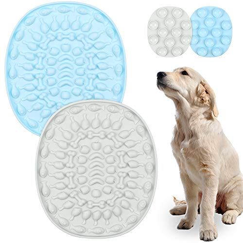 O-Kinee Hund Lecken Pad, 2 Stück Licking Mat, Slow Feeder Leckpad, Leckmatte für Hunde, Leckmatte Hund, mit Super Starke Saugkraft, für Füttern, Haustier-Baden, Pflege, Training, den Hund ablenken