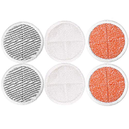 Iusun 6PC Steam Mop Pads Replacement Parts Spare Kits For Bissell Powerfresh Steam Mop 2124/2039/2037/2039A Series Vacuum Cleaner Sweeping Robot Accessories Set (A)