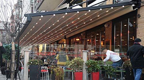NAO Pergola éco façade auvent rétractable étanche 3m x 3.5m