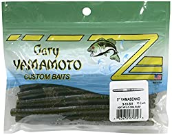 Gary Yamamoto Yamasenko stick bait in green pumpkin and watermelon flake.