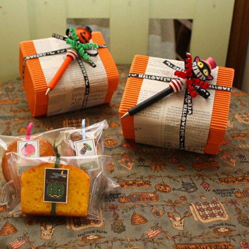 ハロウィンボールペンと焼き菓子3個intheBOX〜和歌山産フルーツとかぼちゃを焼き込んだ焼き菓子ギフト