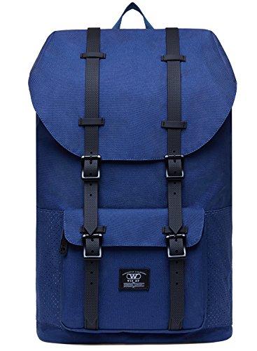 KAUKKO Laptop Rucksack für 15 Zoll Notebook für Städtetrips, Schule, Fahrrad und Wanderreise, 21.57 Liters,27 * 17 * 47 cm (Blau JNL-D3-12)