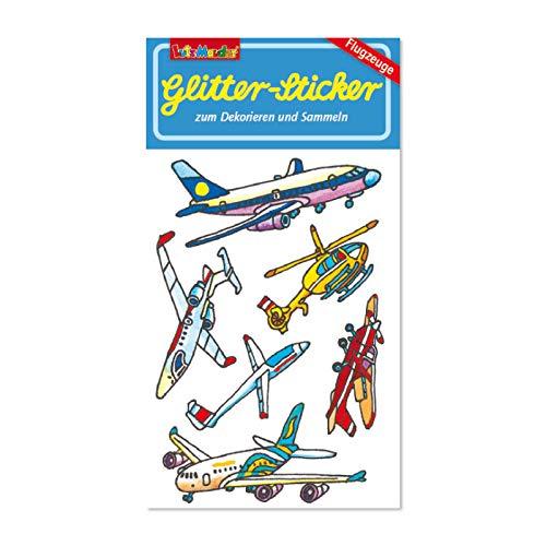 Neu 2019: Glitter-Sticker * Flugzeuge * von Lutz Mauder | 72297 | als Mitgebsel für Kinder | Aufkleber zum Kindergeburtstag & Basteln