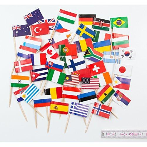 Everflag Zahnstocher : 50 Länder bunt gemischt
