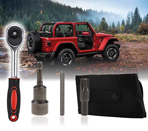 ELONN for Jeep Wrangler Tool Kit Hard Top and Door Removal Kit Windshield Removal Tool Kit Torx Wrench Kit   Useful for Removal Doors, Seats, Hook, Hardtop & Windshield - Storage Case Included