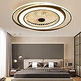 LED 50W Plafoniera Ventilatori A Soffitto Ventola Silenziosa Creativa Fan Moderna Luce Con...