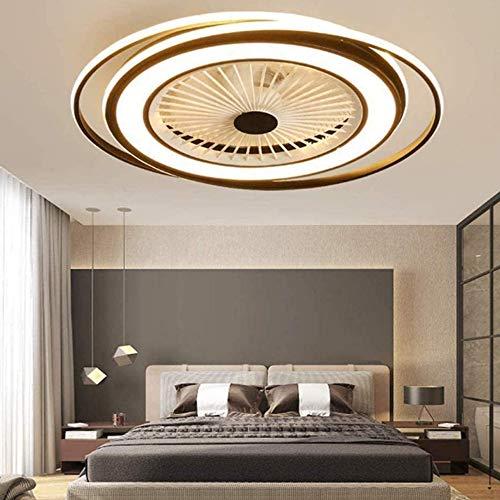 Unsichtbares 50W Fan Licht Modern LED Deckenventilator Fan Deckenlampe Dimmbar Mit Beleuchtung Schlafzimmer Deckenleuchte Einstellbar Wohnzimmer Leuchte Mit Fernbedienung Leise Ventilator Kinderzimmer