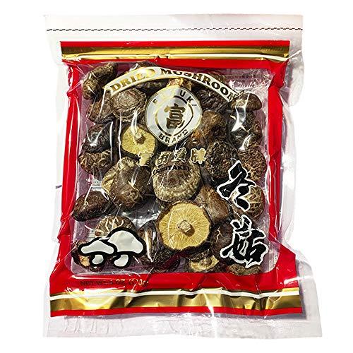 Fuyuki Brand Dried Shiitake Mushroom 6 oz., 4–5 cm Premium Top Grade Shiitake Mushrooms Wild Non-GMO Natural Kosher Vegan and Gluten Free Flower Dried Whole Mushrooms (Pack of 2)