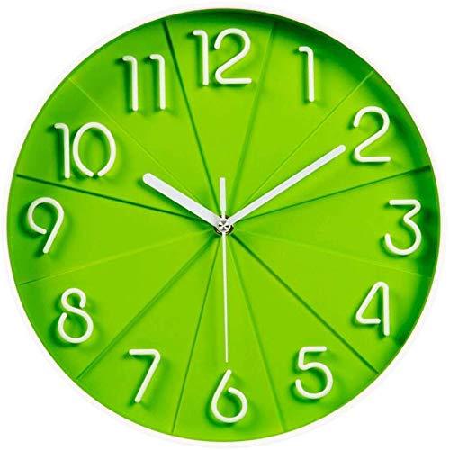 JZX Reloj de Pared Decorativo, Reloj de Pared de Moda Stere Mute Clock Dormitorio Creativo Reloj de Cuarzo