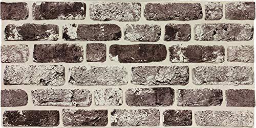 Steinoptik Wandverkleidung für Wohnzimmer, Küche, Terrasse oder Schlafzimmer in Klinkeroptik Look. | 100cm x 50cm (ST 105)