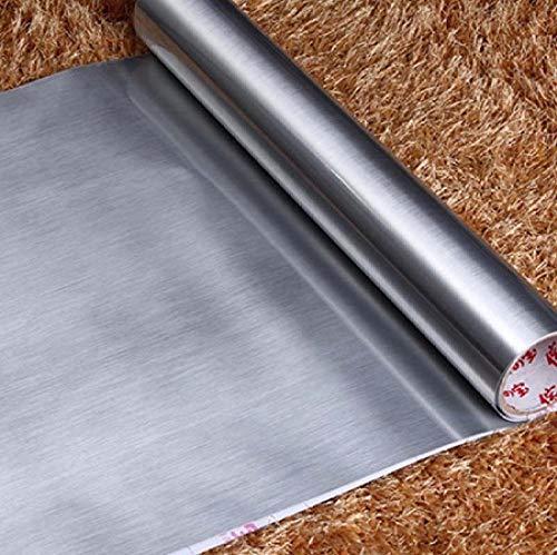 Hintergrundbild Selbstklebende Küchentapete PVC Besteck Gerät Aufkleber Edelstahl Vinyl Möbel Kühlschrank Geschirrspüler Kontaktpapier-A_20X0.6M