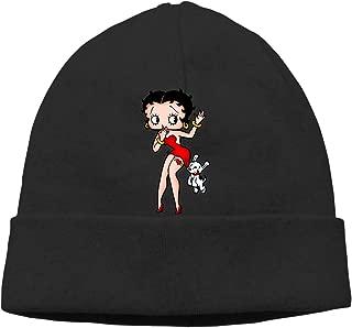 Black Betty Boop Beanies Caps Unisex Soft Cotton Hedging Cap