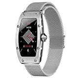 BAIZE Smart Watch,Bluetooth Fitness Tracker Color Touch Screen with All-Day Heart Rate and Activity Tracking,Sleep Monitoring with Waterproof Calorie Counter Pedometer for Women(Silver)