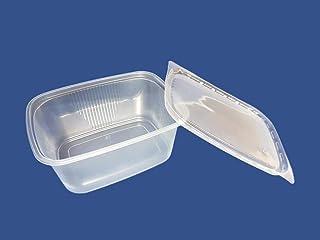 Recipientes para ensalada (((150unidades) 250ml Comida rápida desechables tapas de plástico caja de almacenamiento