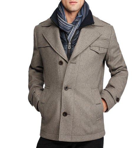 Hugo Boss Boss Orange by Men's Ofanta Wool Jacket Pea Coat-Grey-42