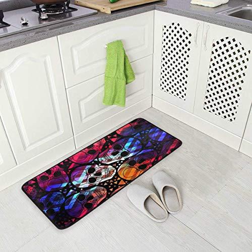 Skull Nursery Rug Floor Carpet Yoga Mat 20 x 31 Inches // 50 x 80 cm Naanle Cherry Blossom Skull Non Slip Area Rug for Living Dinning Room Bedroom Kitchen 1.7  x 2.6