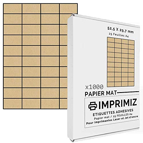Etiquetas Adhesivas Kraft Marca Imprimiz