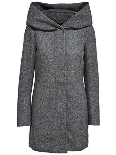 ONLY Damen Mantel Jacke Sedona Light Coat Parka Übergang Frühling (XXL, Dark Grey Melange)